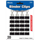 "Small 3/4"" (19mm) Black Binder Clip (20/Pack)"
