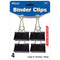 "Large 2"" (51mm) Black Binder Clip (4/Pack)"