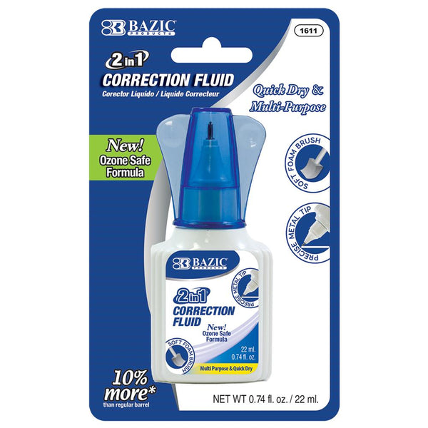 22ml 2 In 1 Correction W/ Foam Brush Applicator & Pen Tip