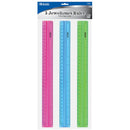 "12"" (30cm) Ruler W/ Handle Grip (3/Pack)"