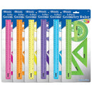 5-Piece Geometry Ruler Combination Set, 1-Pack