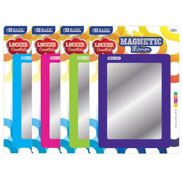 Magnetic Locker Mirror, 1-Pack