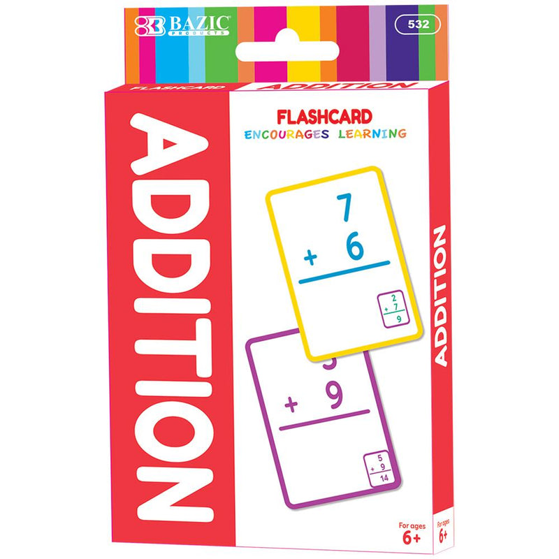 Addition Flash Cards (36/Pack)