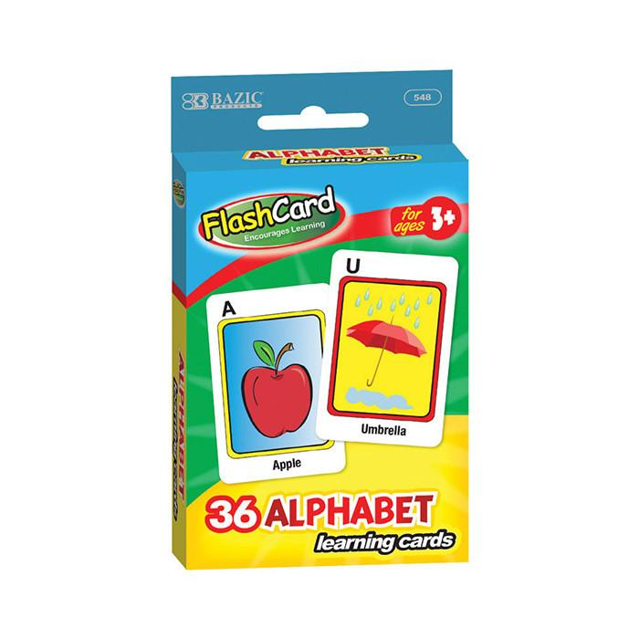 Alphabet Pre-School Flash Cards (36/Pack)
