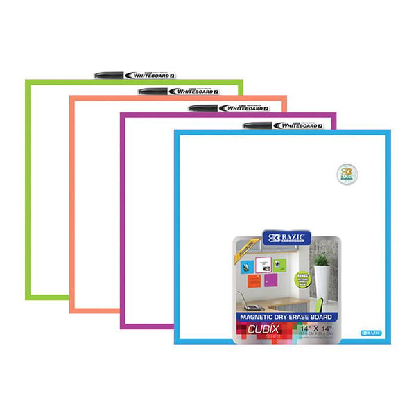 "14"" X 14"" Magnetic Dry Erase Tile, 1-pack"