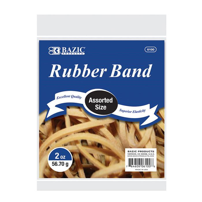 2 Oz./ 56.70 G Assorted Sizes Rubber Bands
