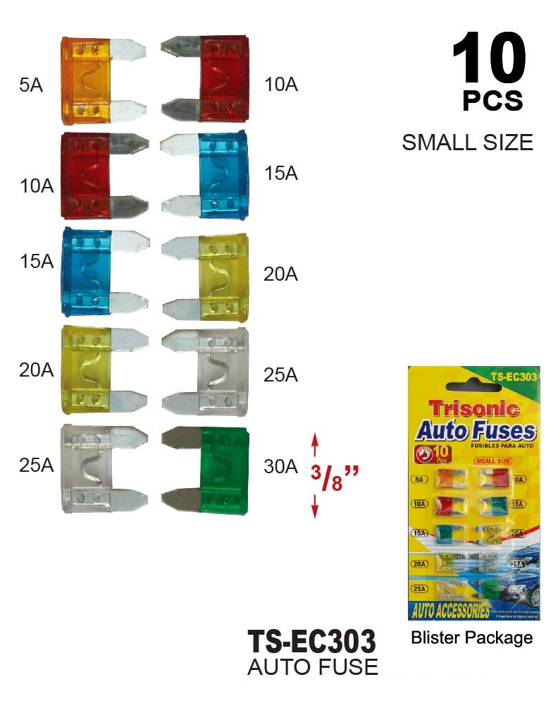 Assorted Auto Fuses, 10-ct.
