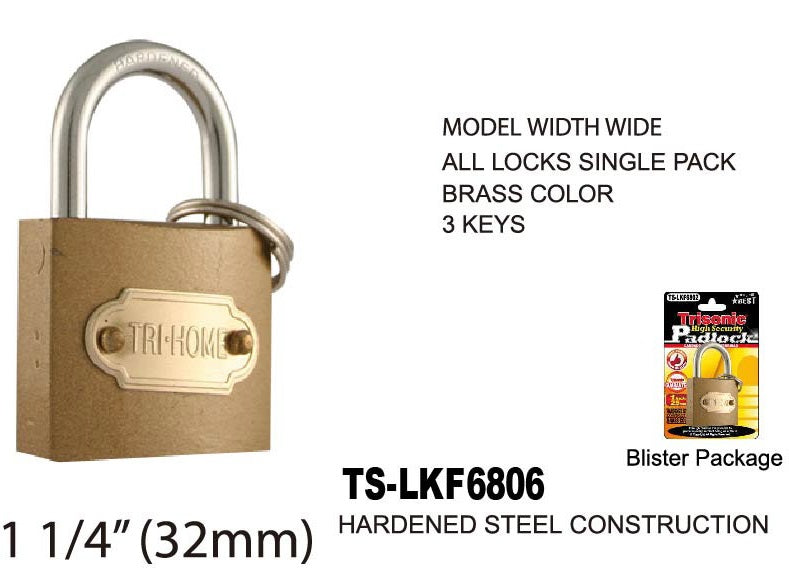 High Security Padlock With Keys, 32 mm