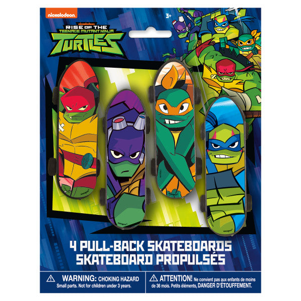 Rise of the TMNT Skateboard Favors, 4ct