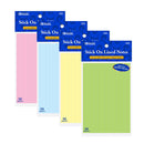 "50 Ct. 4"" X 6"" Lined Stick On Notes, 1-pack"