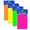 "50 Ct. 4"" X 6"" Neon Lined Stick On Notes, 1-pack"