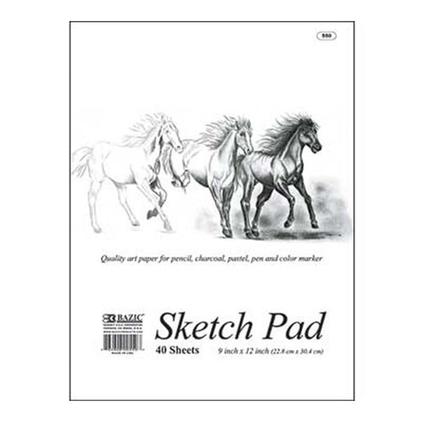 "9"" X 12"" Premium Sketch Pad, 40 sheets"
