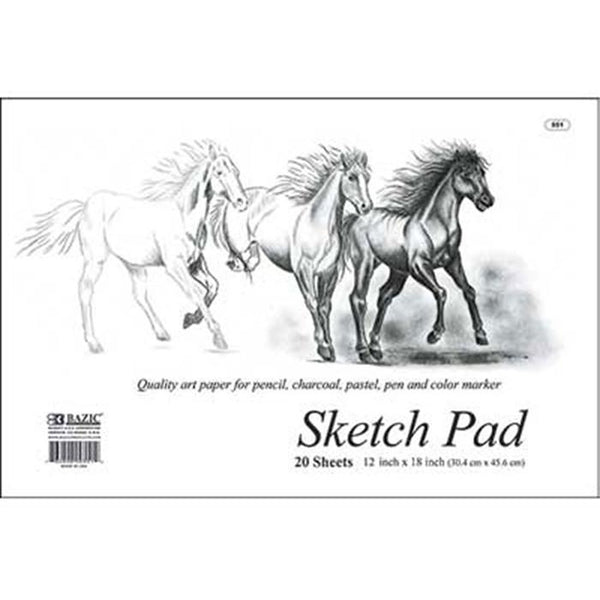 "18"" X 12"" Premium Sketch Pad, 20 sheets"