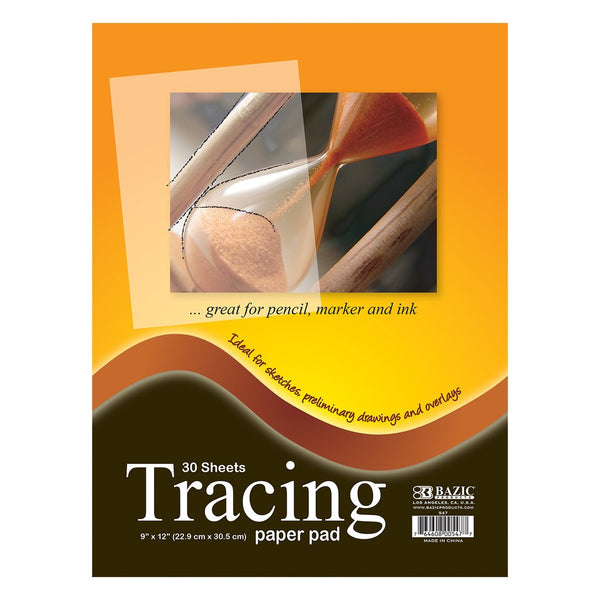 "9"" X 12"" Tracing Paper Pad, 30 sheets"