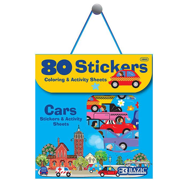 Car Series Assorted Sticker (80/Bag)