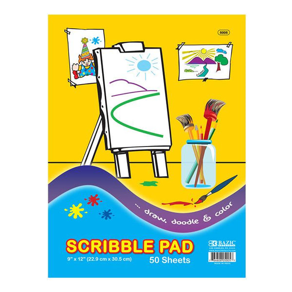 "9"" X 12"" Scribble Pad, 50 sheets"