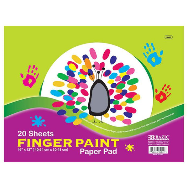 "16"" X 12"" Finger Paint Paper Pad, 20 sheets"