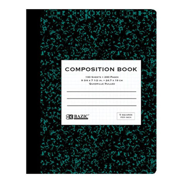 Quad-Ruled Marble Composition Book