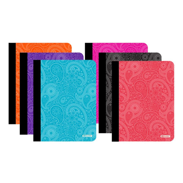 C/R 100 Ct. Paisley Composition Book, 1-ct.