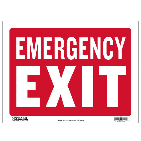"9"" X 12"" Emergency Exit Sign"