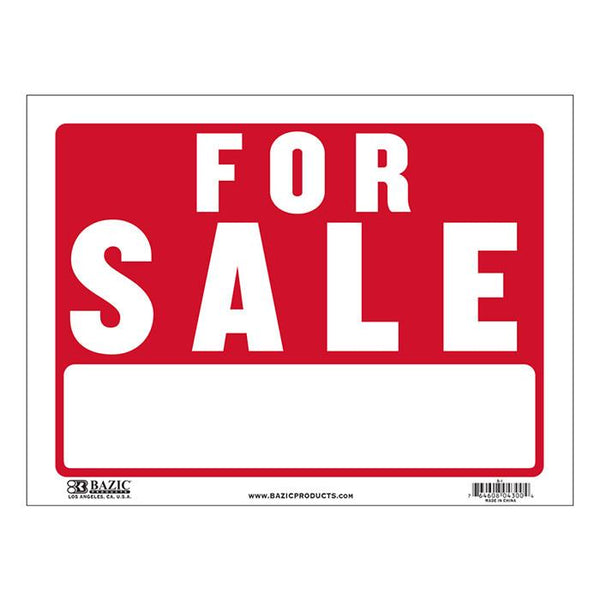 "9"" X 12"" For Sale Sign"