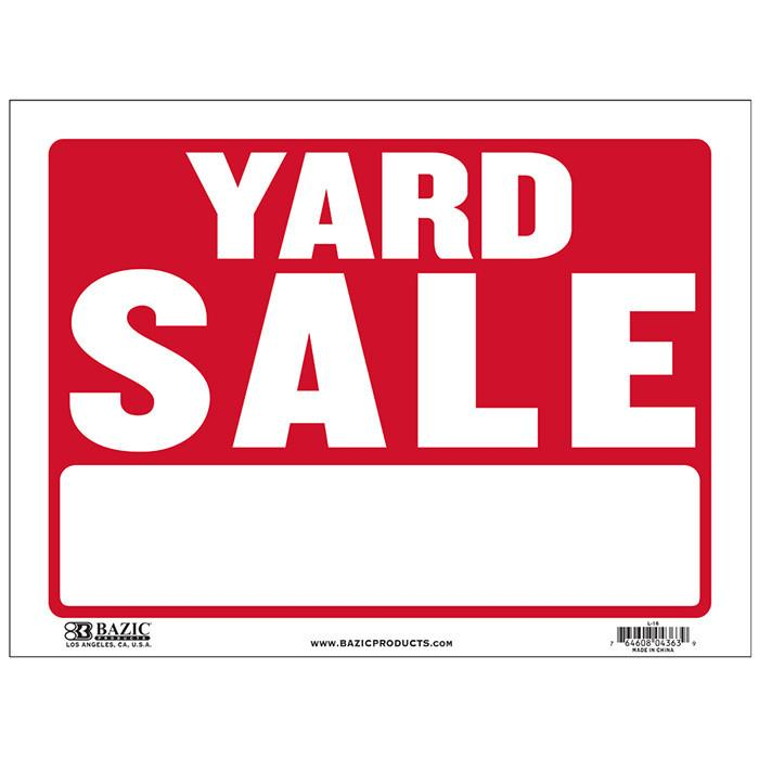 "9"" X 12"" Yard Sale Sign"