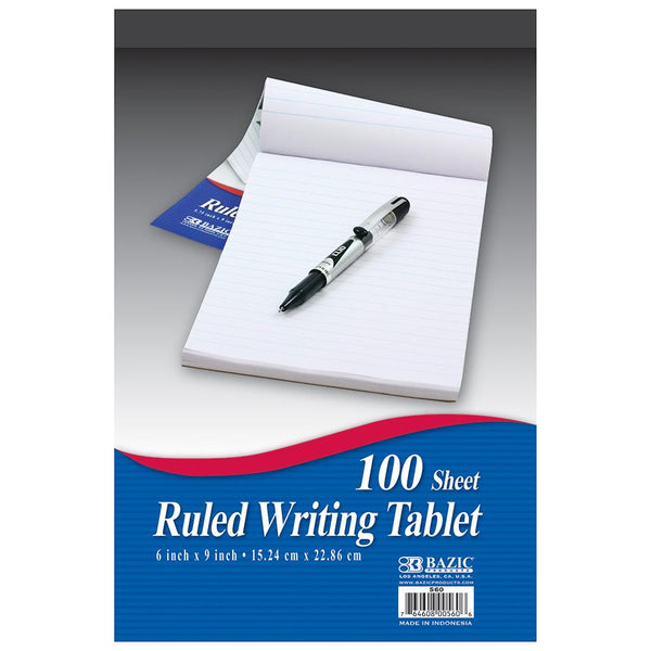 "5.75"" X 9"" Ruled Writing Tablet"