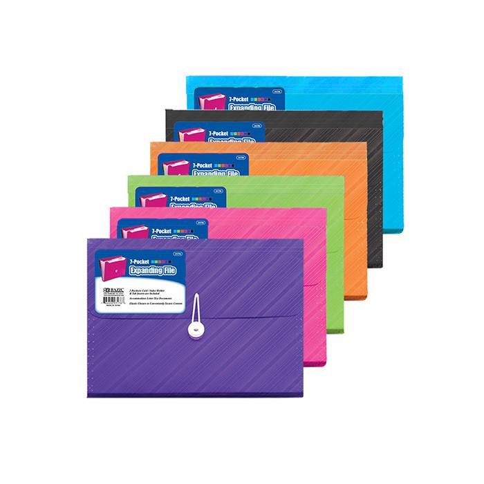 Translucent 7-Pocket Letter Size Poly Expanding File, 1-ct.