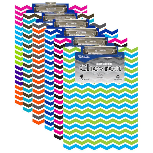 Standard Size Chevron Paperboard Clipboard W/ Low Profile Clip, 1-ct.