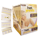 Hot Jewels Classic Metallic Temporary Tattoos, 4 Sheets