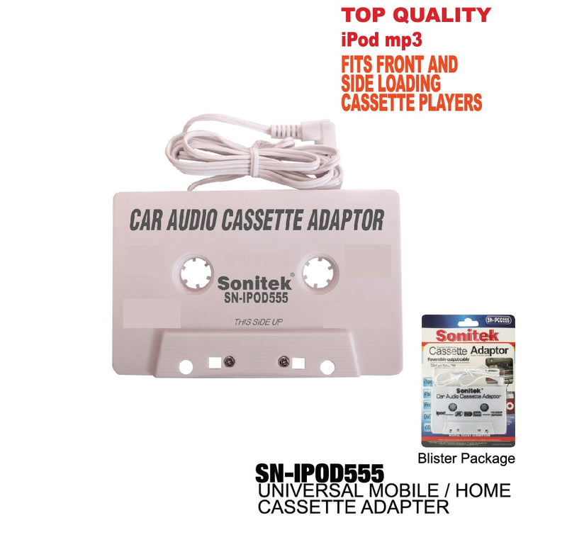 Universal Car Mobile/Home Cassette Adapter