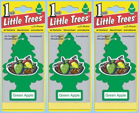 Little Trees Green Apple Air Freshener, 1 ct. (Pack of 3)
