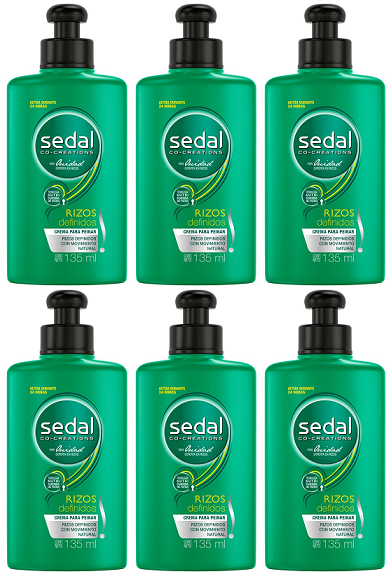 Sedal Co-Creations por Ouidad Rizos definidos Crema Para Peinar, 300ml (Pack of 6)
