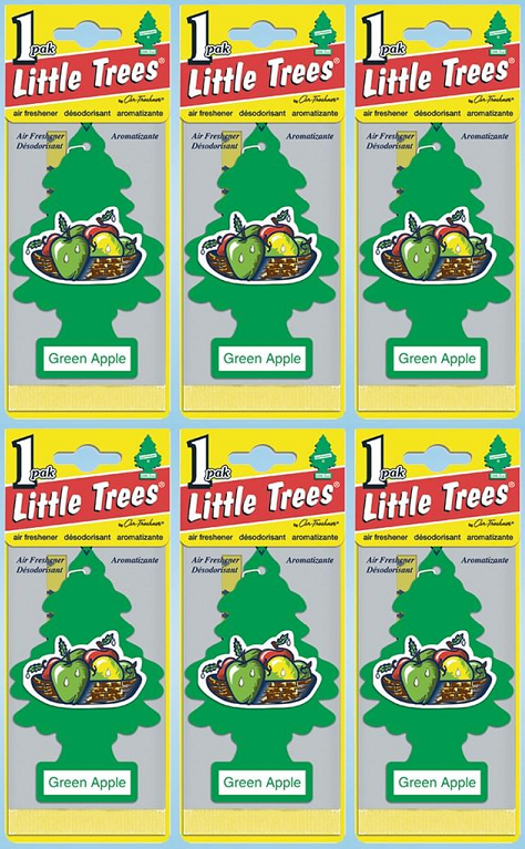 Little Trees Green Apple Air Freshener, 1 ct. (Pack of 6)