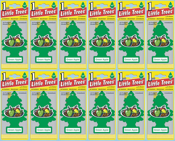 Little Trees Green Apple Air Freshener, 1 ct. (Pack of 12)