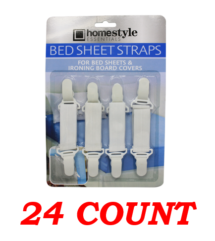 Bed Sheet Straps, 24-ct.