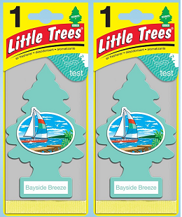 Little Trees Bayside Breeze Air Freshener, 1 ct. (Pack of 2)