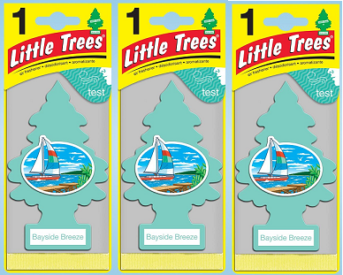 Little Trees Bayside Breeze Air Freshener, 1 ct. (Pack of 3)