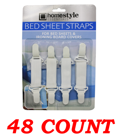 Bed Sheet Straps, 48-ct.