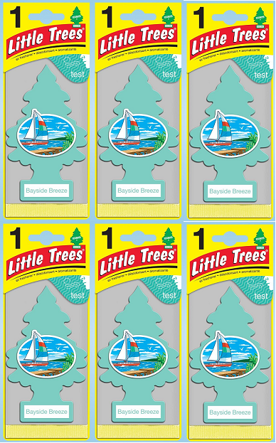 Little Trees Bayside Breeze Air Freshener, 1 ct. (Pack of 6)