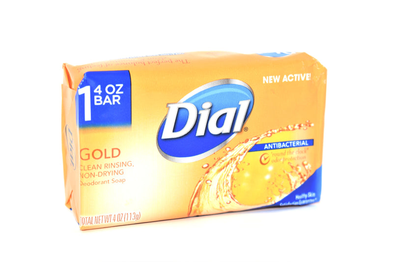 Dial Gold Antibacterial Deodorant Bar Soap, 4 oz.