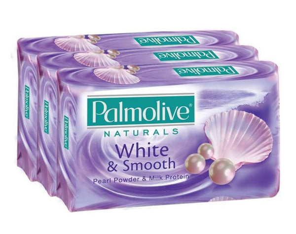 Palmolive Naturals White & Smooth Soap Bar, Pack of 3
