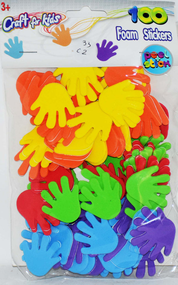 Craft for Kids 100 High Five Foam Stickers, 1-ct
