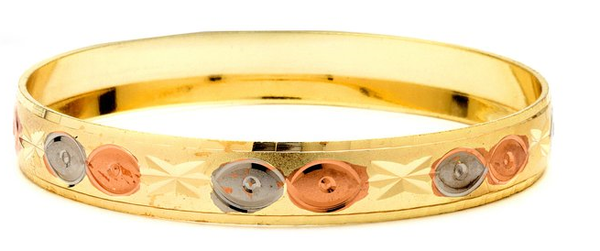 3 Tone Bangle 10 mm, Size-2