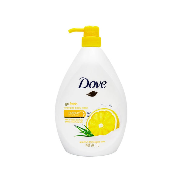 Dove Go Fresh Energize Body Wash w/ Grapefruit & Lemongrass Scent, 1L