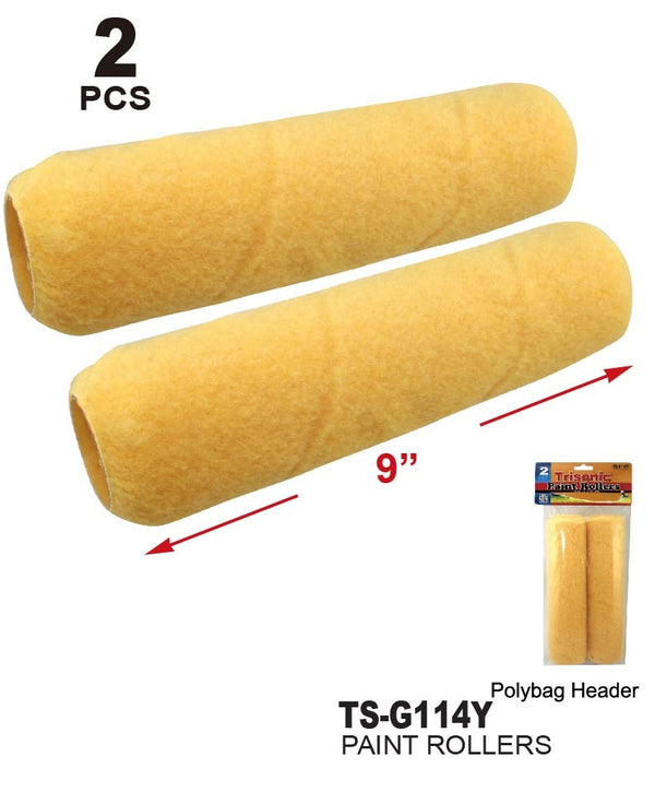 Yellow Paint Rollers, 2-Ct.