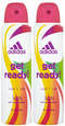 Adidas Get Ready! Cool & Care Deodorant Body Spray for Women, 150ml (Pack of 2)