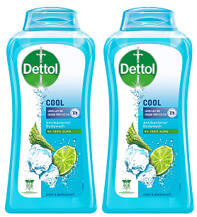 Dettol Cool Long Lasting Cooler Protection Antibacterial Body wash, 100 gm (Pack of 2)