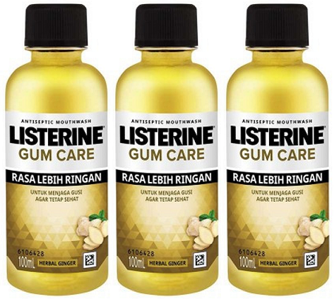 Listerine Antiseptic Mouthwash Gum Care, 100 ml (Pack of 3)