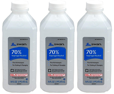 Swan 70% Isopropyl Alcohol, 16 fl oz. (Pack of 3)